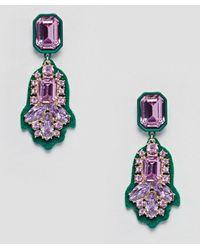 River Island - Oversized Jewel Earrings - Lyst