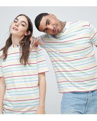 ASOS - X Glaad& T-shirt With High Neck And Embroidery - Lyst