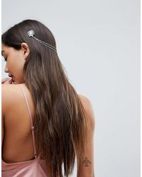 ASOS - Crystal Side Back Hair Chain - Lyst