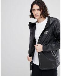 Herschel Supply Co. - Forecast Hooded Jacket Rubberised Showerproof In Black - Lyst