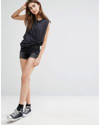 Cheap Monday - Cut-off Shorts With Distressing - Lyst
