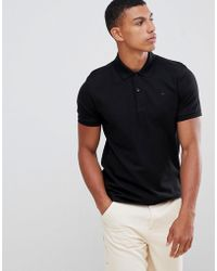 J.Lindeberg - Troy Clean Pique Polo In Black - Lyst