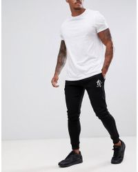 Gym King - Skinny joggers In Black With Logo - Lyst