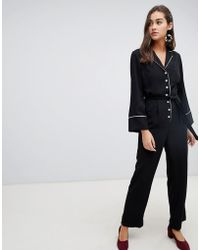 New Look - Belted Jumpsuit - Lyst