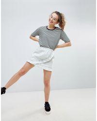 Monki - Ruffle Wrap Skirt - Lyst