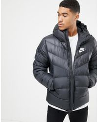 Nike Down Filled Jacket With Hood In Black 866027-010 in Black for ... e11b5fc29