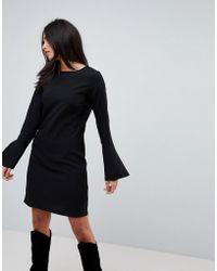 Vila - Fluted Sleeve Dress - Lyst