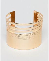 ALDO - Gold Statement Cuff Bracelet - Lyst