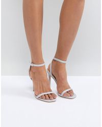 44ad9364c38 Public Desire - Notion Glitter Barely There Heeled Sandals - Lyst