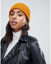 New Look - Mustard Beanie Hat - Lyst