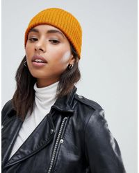 New Look - Mustard Beanie Hat - Lyst