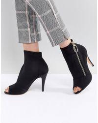 Karen Millen - Neoprene Shoe Boots - Lyst