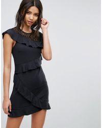 Vero Moda | Lace Ruffle Dress | Lyst