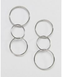 French Connection - Multihoop Earrings - Lyst