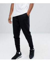 ASOS - Tall Tapered Joggers In Black - Lyst
