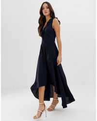 AX Paris - Maxi Dress In Navy - Lyst
