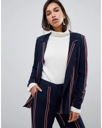 Y.A.S - Striped Blazer Co-ord - Lyst