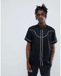Weekday - Tonto Western Short Sleeve Shirt - Lyst