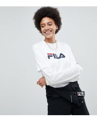Fila - Oversized Boyfriend T-shirt With Chest Logo - Lyst