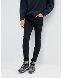 ASOS - Super Skinny Jeans In Washed Black - Lyst