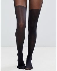 ASOS - Recycled Rib Over The Knee Tights - Lyst