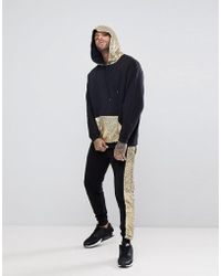 ASOS - Tracksuit Oversized Longline Hoodie/ Skinny Joggers With Gold Sequins - Lyst