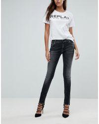 Replay - Crop Jean With Step Hem - Lyst