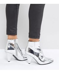 Missguided - Cone Heel Ankle Boot - Lyst