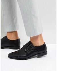 ASOS - Chaussures derby en similicuir avec empiècement estampé - Noir - Lyst