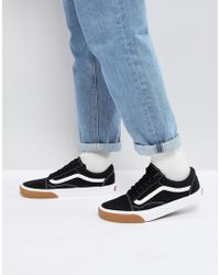 Vans - Old Skool Trainers In Black Va38g1qr4 - Lyst