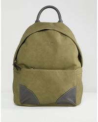 Ted Baker - Graveet Nubuck Pu Backpack - Lyst 871ea259c5d52