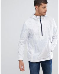 PS by Paul Smith - Overhead Half Zip Anorak In White - Lyst