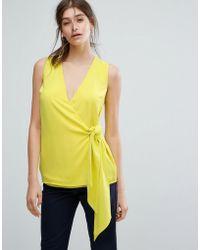 Warehouse - Knot Front Top - Lyst