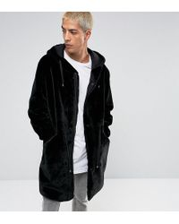 The New County - Parka In Teddy Velour Faux Fur - Lyst