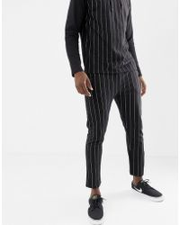 Another Influence - Pinstripe Slim Fit Jersey Joggers - Lyst