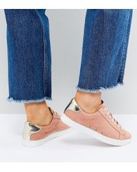 ASOS - Delina Wide Fit Lace Up Trainers - Lyst