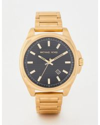 cb5d15ced290 Michael Kors Mk8632 Bryson Leather Watch 42mm in Black for Men - Lyst