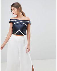 Coast - Evie Stripe Bardot Top - Lyst