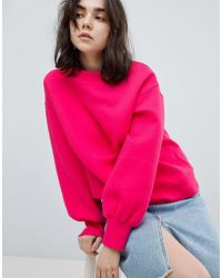 Pieces - Balloon Sleeve Sweatshirt - Lyst