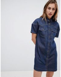 Levi's - Levi's Western Denim Dress With Raw Hem - Lyst