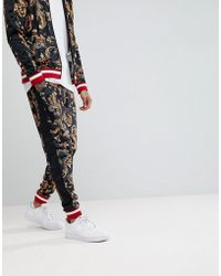 Jaded London - Baroque Velvet Joggers With Side Stripes - Lyst