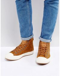 d25bfe3e8999 Converse - Chuck Taylor All Star Wp Sneaker Boots In Tan 157461c237 - Lyst