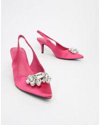 NA-KD - - Light Embellished Kitten Heel Pumps - Lyst