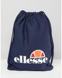 Ellesse | Drawstring Bag In Navy | Lyst