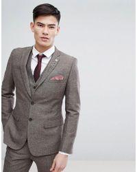 French Connection - Semi Plain Donegal Slim Fit Suit Jacket - Lyst