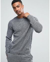 SELECTED - Crew Neck Knit In Twisted Yarn - Lyst