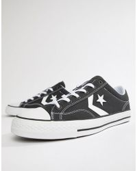 65115860280e Converse Star Player In Black 144145c in Black for Men - Lyst