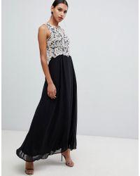 0e6c19c512 La Perla Chiffon Maxi Dress With Embellishment in Pink - Lyst