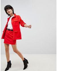 Pieces - Coloured Denim Skirt - Lyst