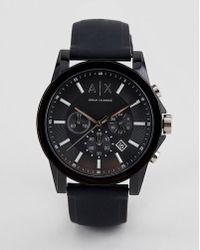 2b1da7e83658 Armani Exchange - Reloj de cuero AX1326 Outerbanks de - Lyst